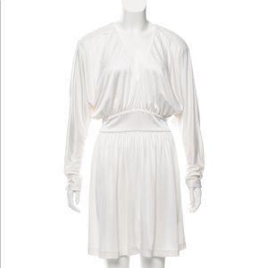 Halston sex and the city white dress 4